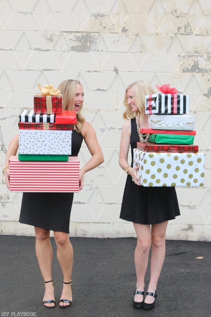 2016-DIY-Playbook-Christmas-Card-Casey-Bridget-behind-boxes