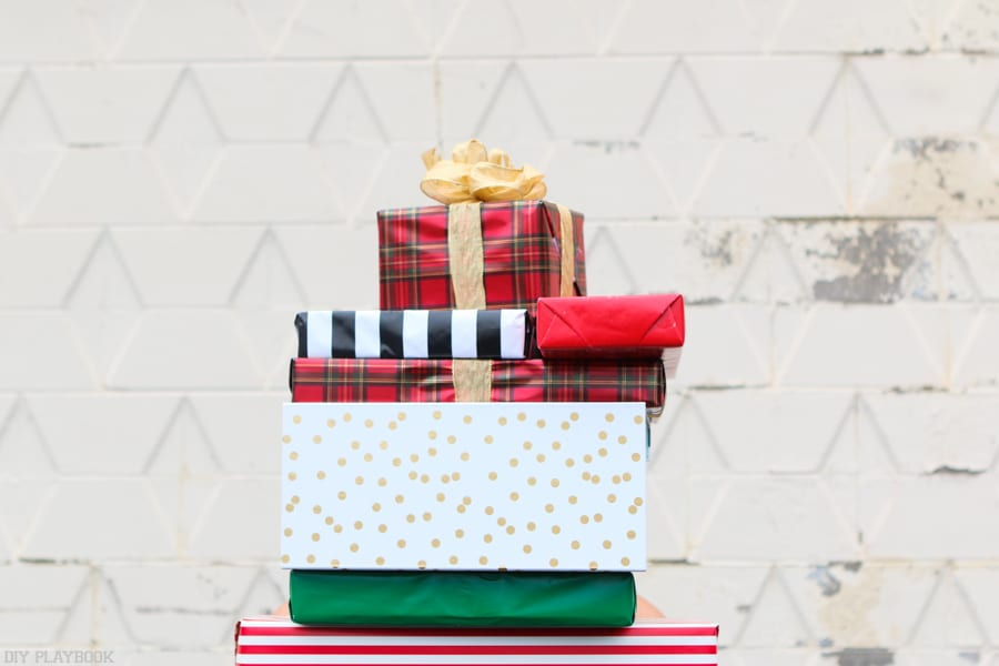 May you give your loved ones a big old stack of gifts like this one, thanks to our Holiday Gift Guide Happy Holidays! | DIY Playbook