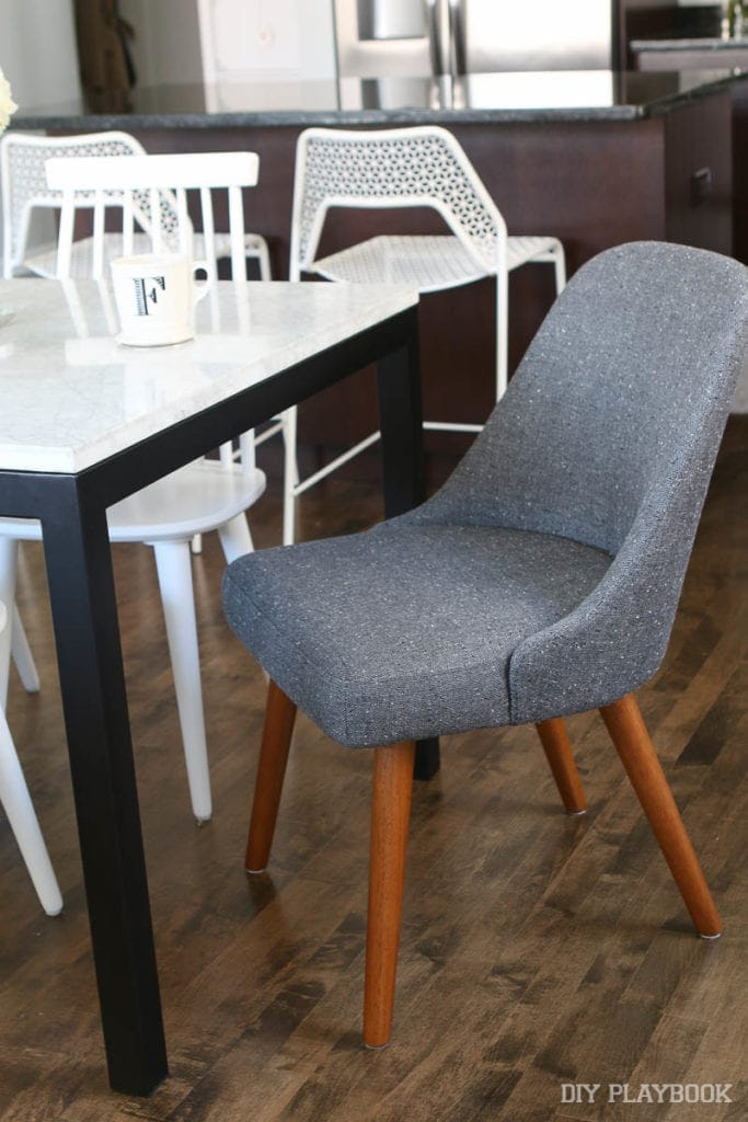 these chairs look great with the neutral decor of the dining room