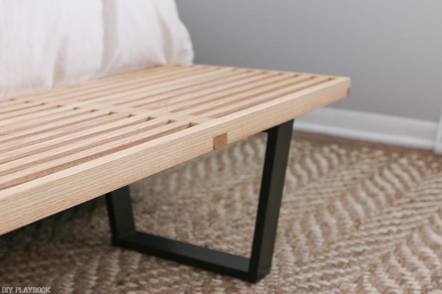 Wooden bench from Baxton Studio Furniture outlet.
