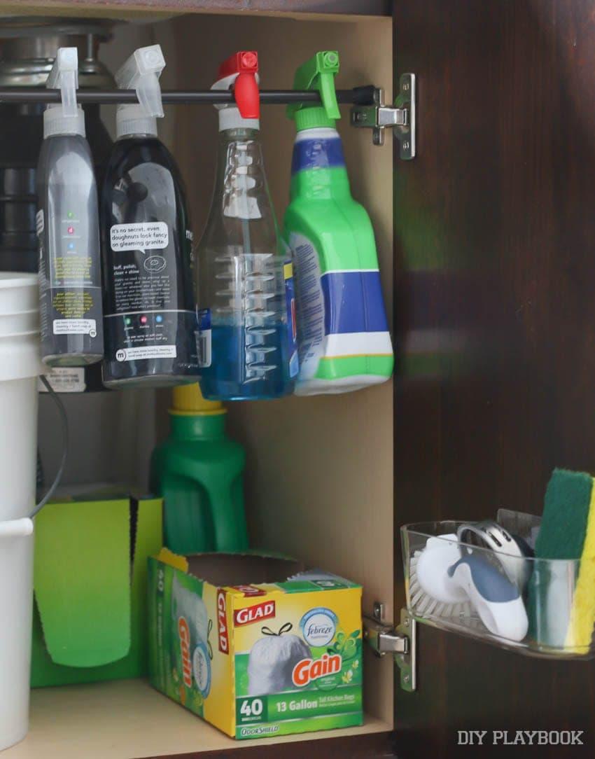 Getting Organized Under the Kitchen Sink