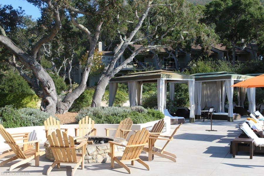 The gorgeous Carmel Valley Ranch fire pit.