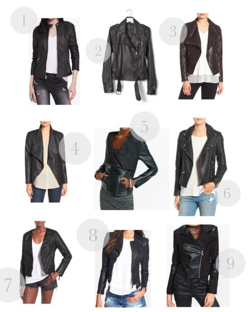 A collection of our favorite black leather jackets for different looks.