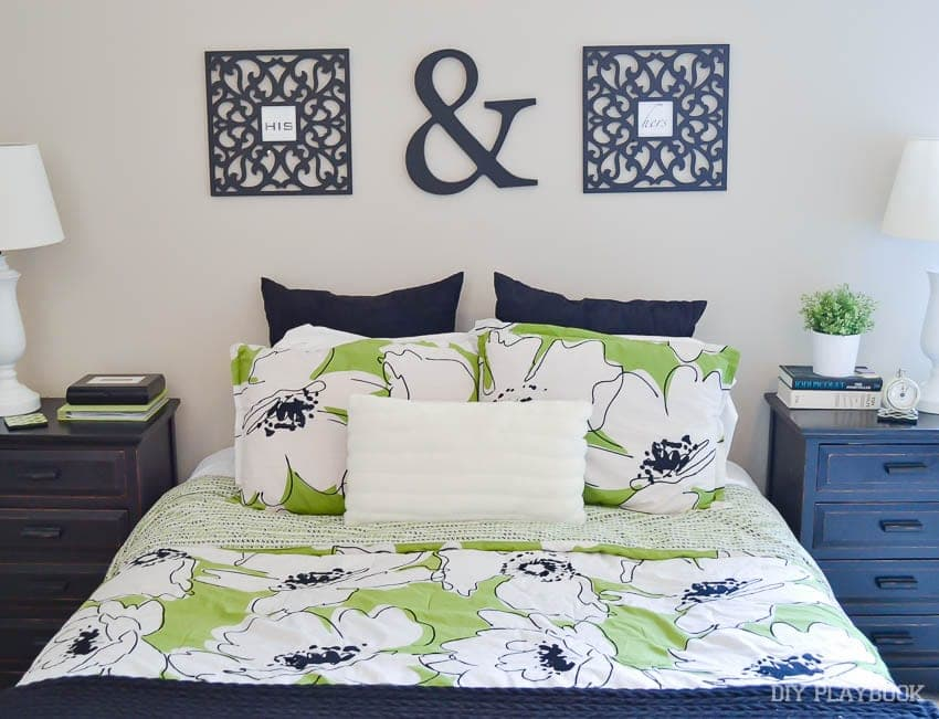 Casey once bought this ugly green comforter for her and Finn, just because she needed a comforter. Rookie Mistake!