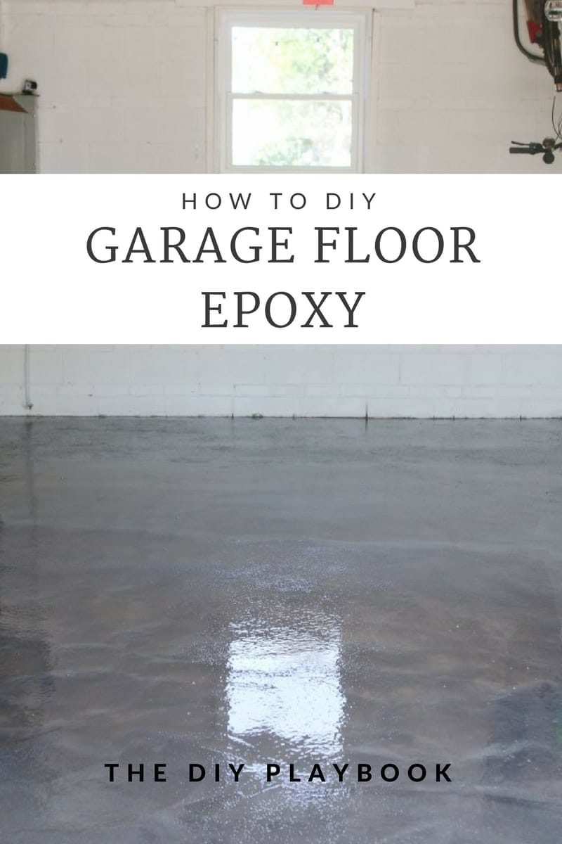 Sealing Garage Floor DIY Project with Epoxy | DIY Playbook