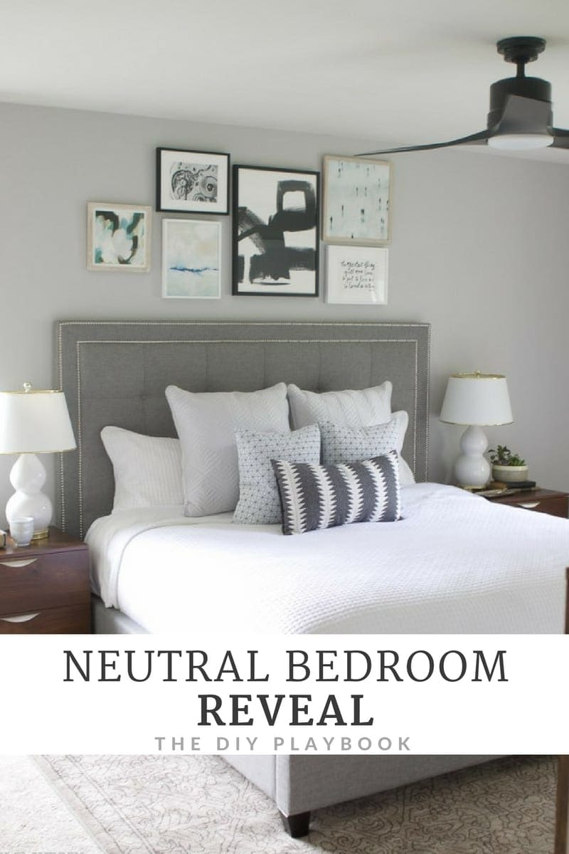 Neutral Bedroom Reveal with Lowes Home Improvement