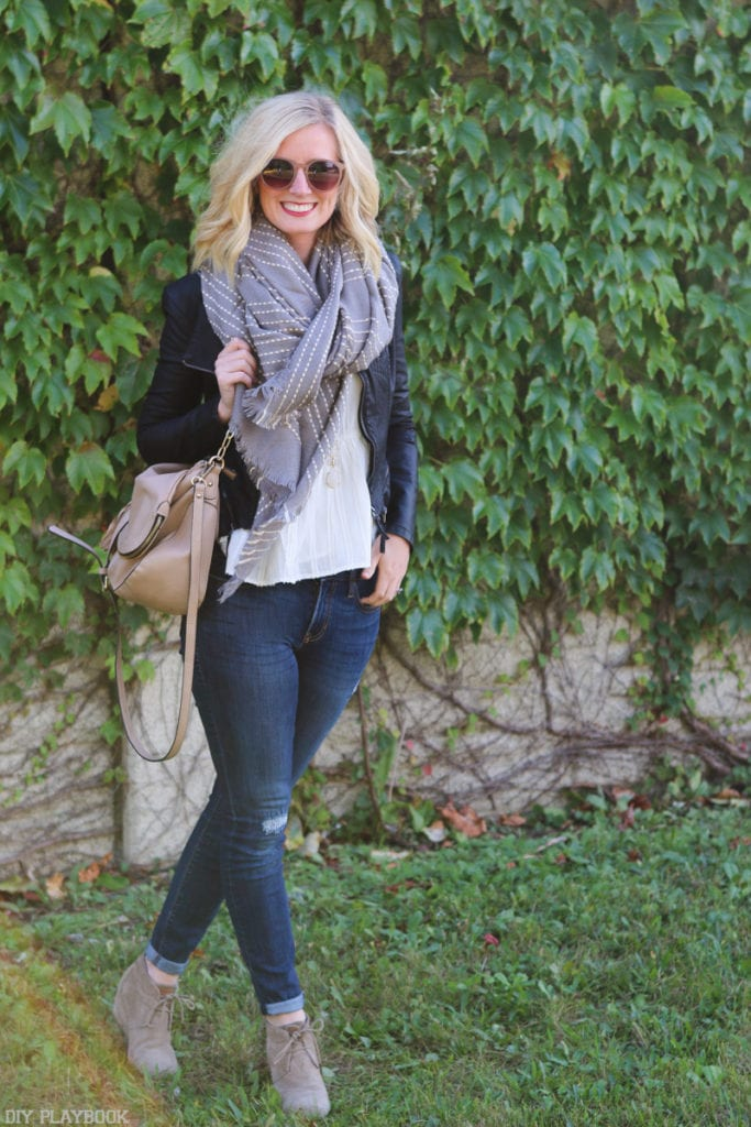 bridget-toms-leather-jacket-scarf-jeans-fall