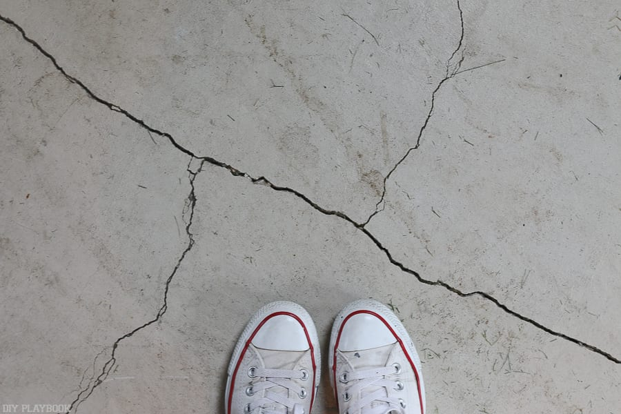 This is just one example of the giant cracks in our current garage floor.