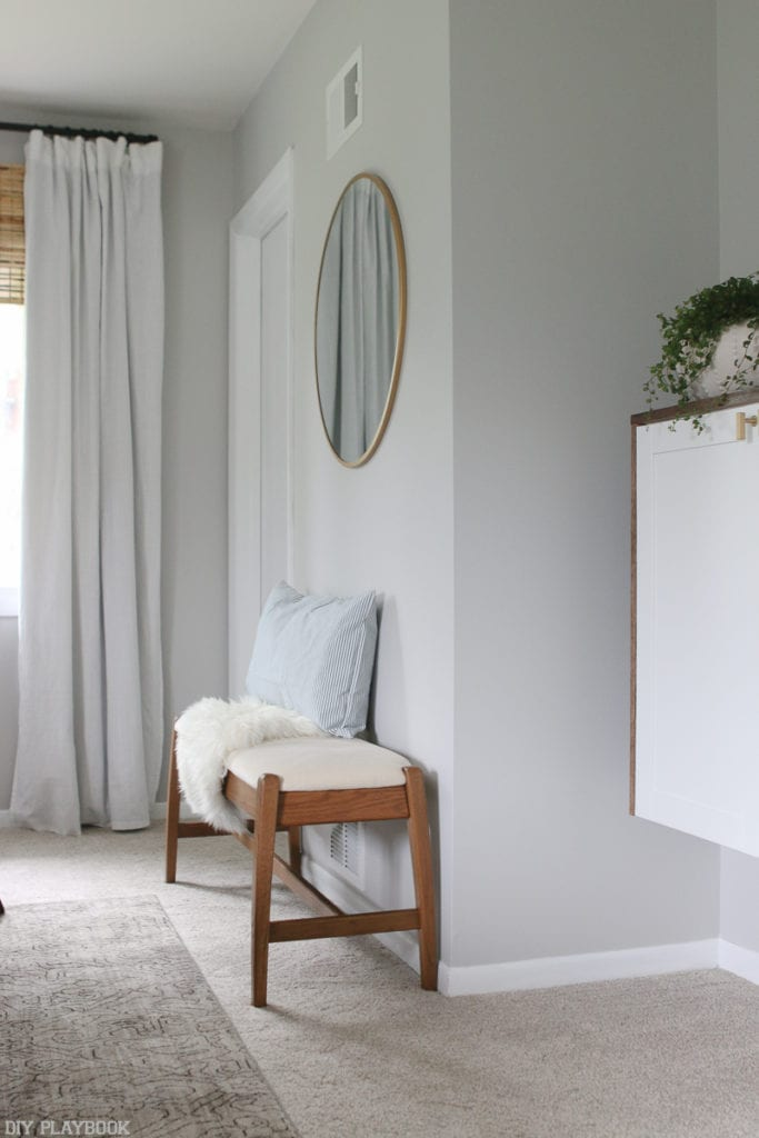 lowes-makeover-bedroom-reveal-bench-mirror