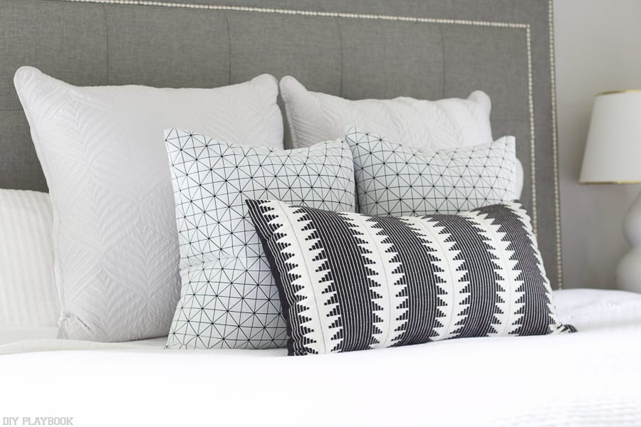 These accent pillows are perfect for the new space