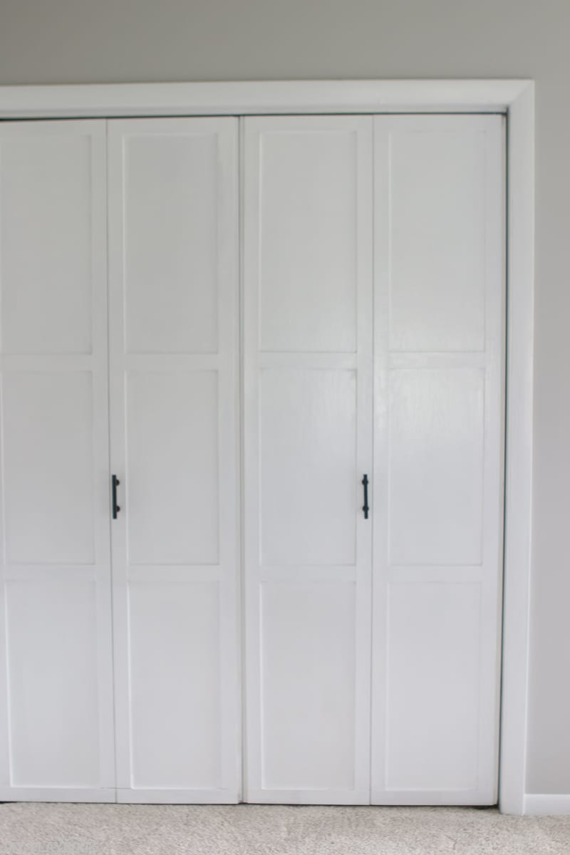 Lowes Makeover Bedroom Reveal Closet Doors Vertical Diy