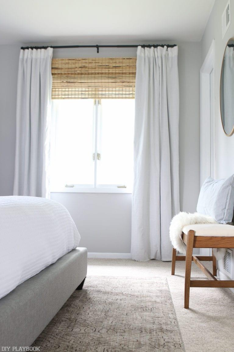 Natural light in a bedroom