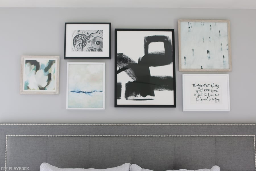 We can't get over this gallery wall and the pieces we selected are perfect