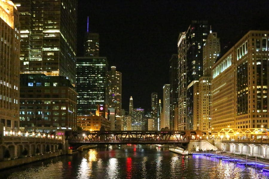 The Chicago River offers many bridges for great Chicago photo spots.