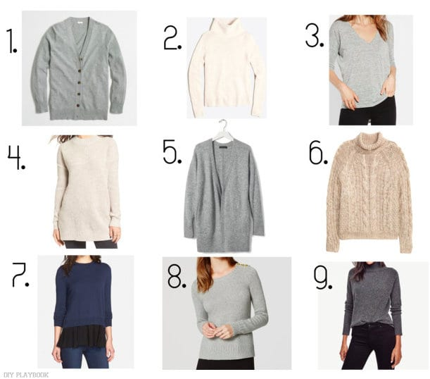 Nine cozy sweaters we love this season!! Which one of these neutral sweater options do you have your eye on?