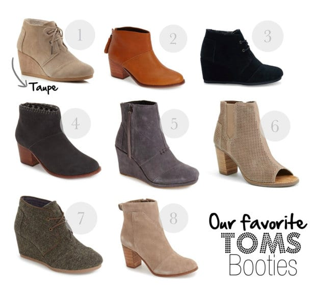 Our favorites: TOMS booties | DIY Playbook