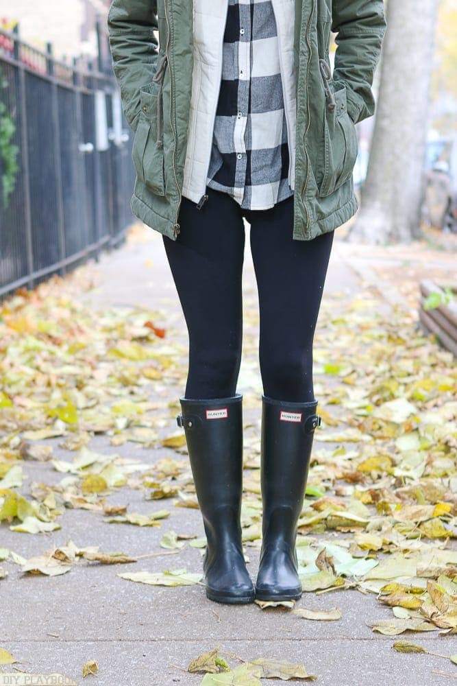 Hunter rain boots are a great staple for fall and winter