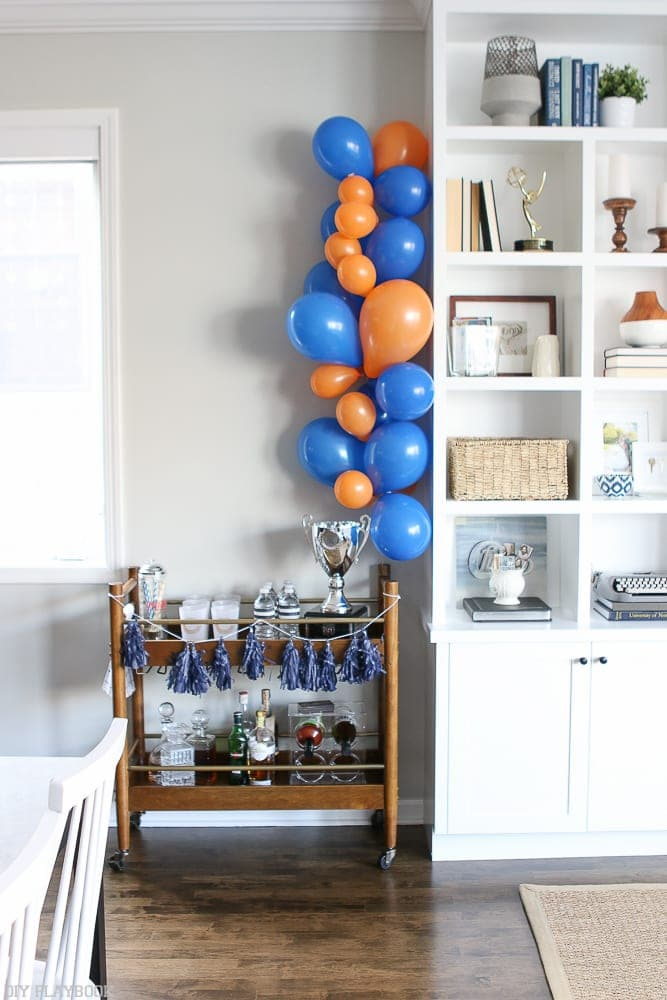 Festive balloon garland is fun and colorful