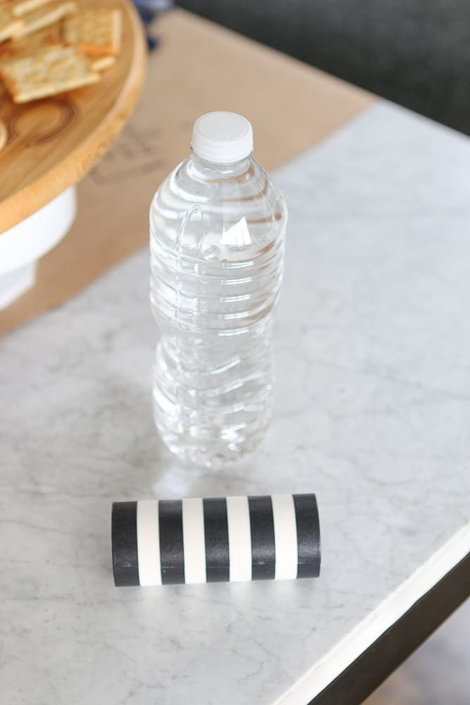 DIY referee water bottles- you just need washi tape