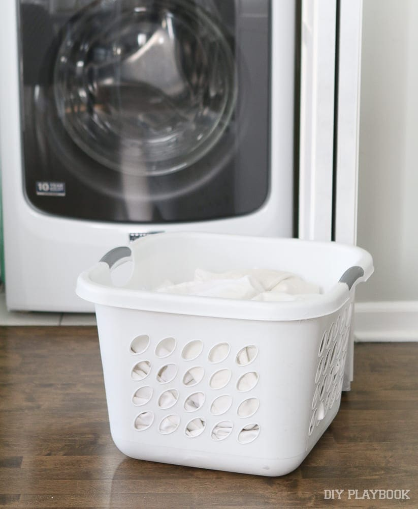 stackable make it more compact: DIY Door Installation for Our Laundry Room | DIY Playbook