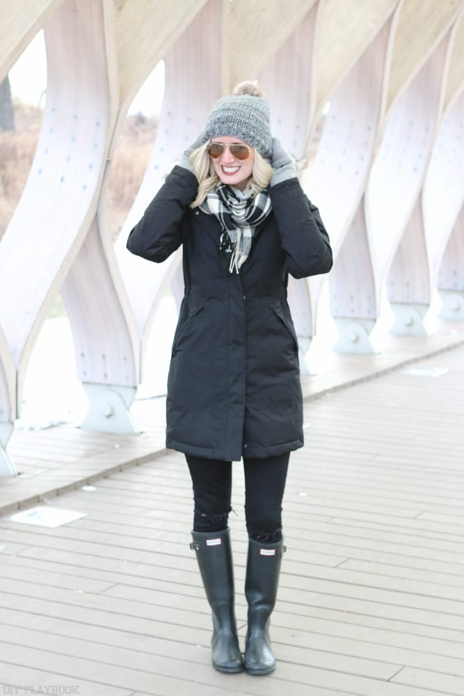 This puffer winter coat is affordable and so warm.