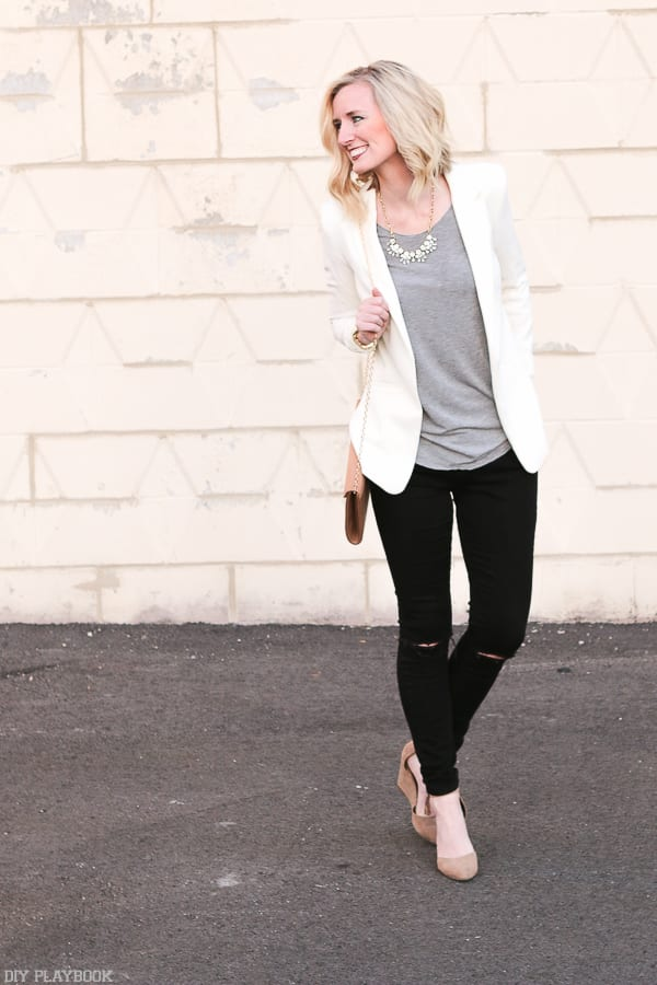 Bridget's work wear - dress up those jeans with a Blazer!