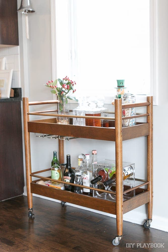 holiday-bar-cart