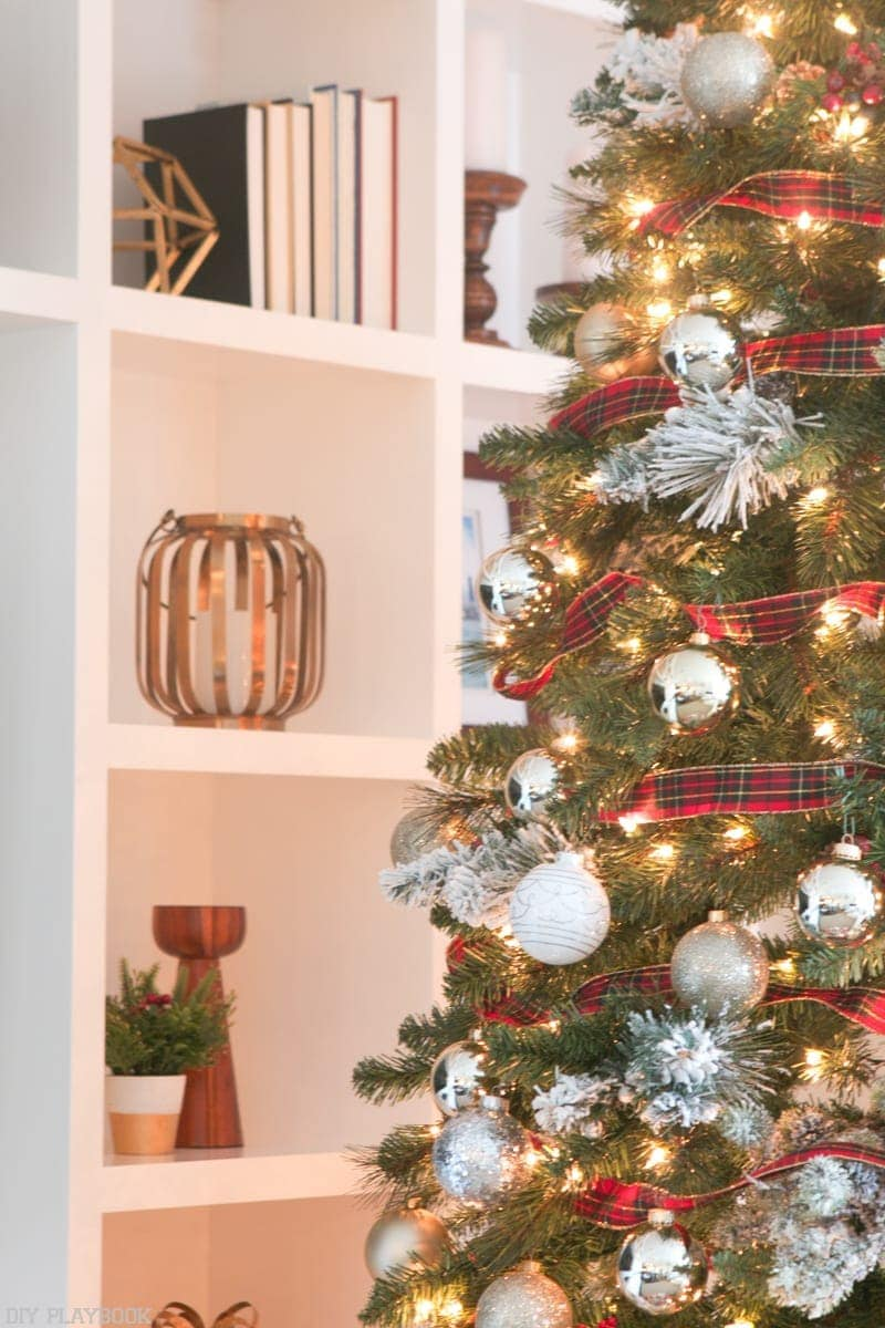 Look at the details of this Pretty and Plaid Christmas Tree.