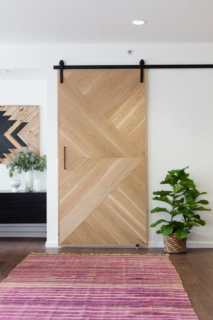 Home office design inspiration | Sliding barn door - photo from Pop Sugar