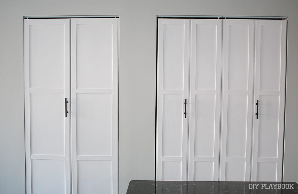 The doors after: DIY Door Installation for Our Laundry Room | DIY Playbook