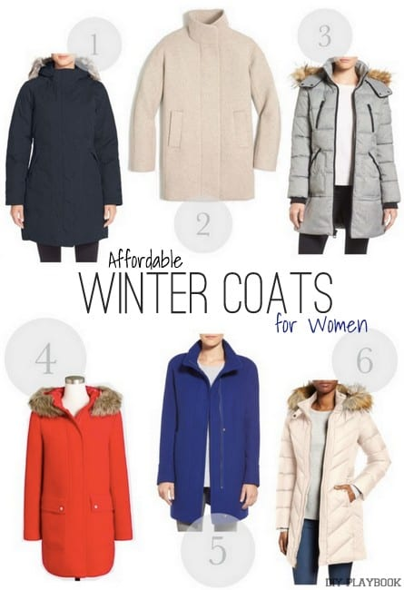 These affordable winter coat options for women are cute and stylish.