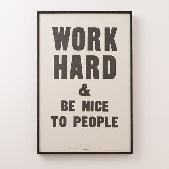 Work Hard and be Nice To People | Home Office Redesign Inspiration from School House Electric
