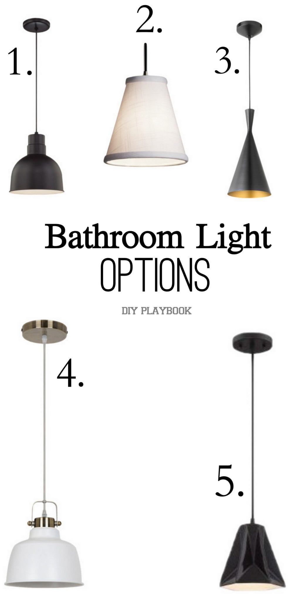 Contemporary Pendant Lights In Our Master Bathroom The Diy Playbook