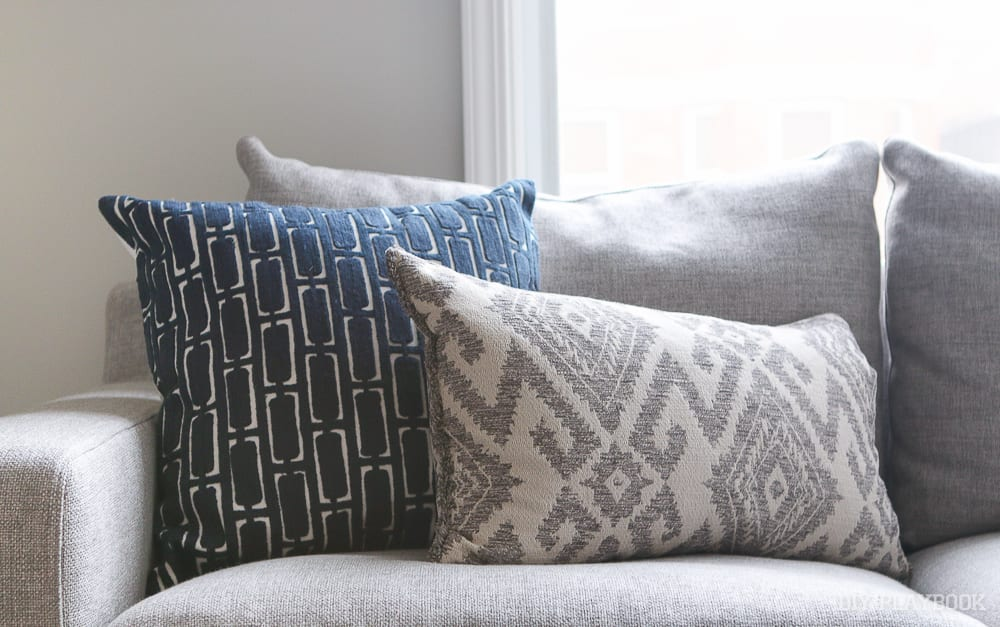 how to choose the best throw pillows for a gray couch With sectional couch accent pillows