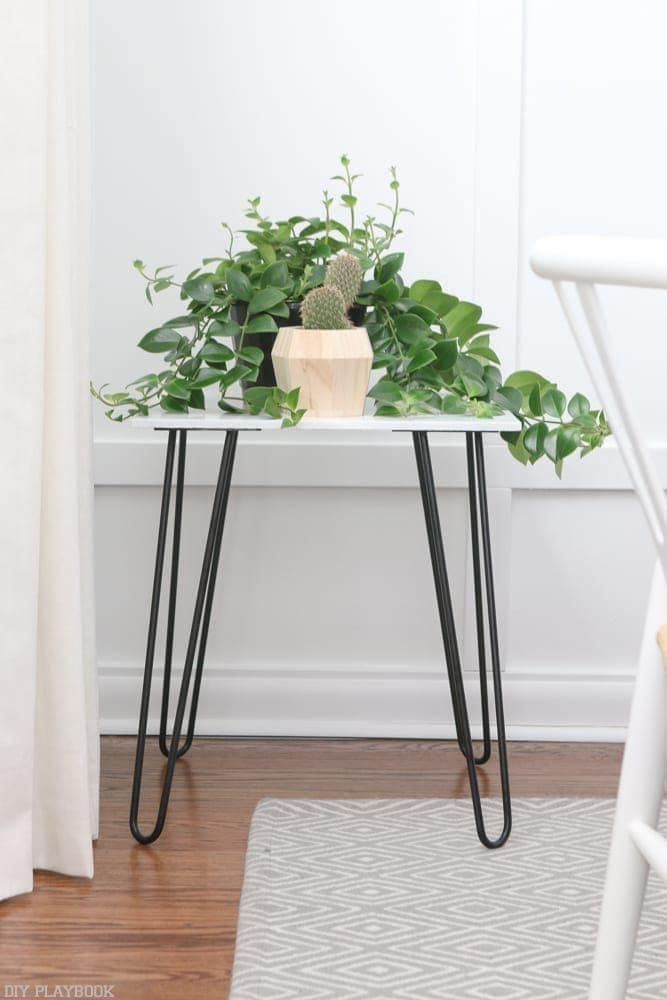 How To Build A Marble Side Table With Hairpin Legs The