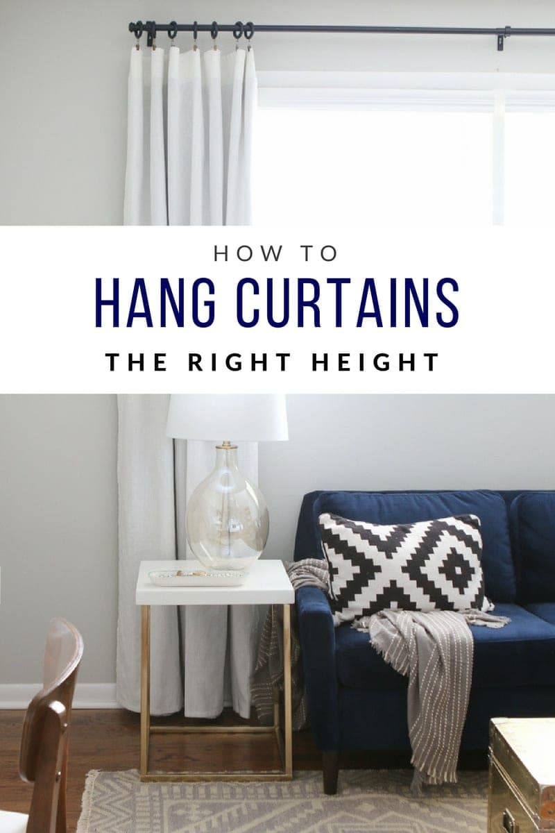 Hanging curtains at the right height. It\u0027s easy to hang them too low so & How to Hang Curtains to Transform Your Windows | The DIY Playbook