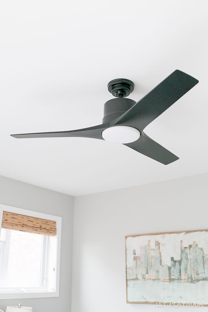 I Think This New Black Ceiling Fan Even Goes Better With Our Artwork