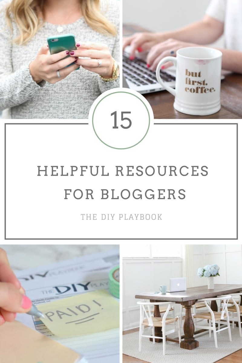 Helpful resources for bloggers from The DIY Playbook.