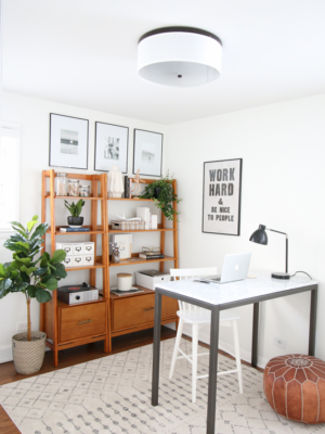 Neutral Office with Lots of Secret Storage
