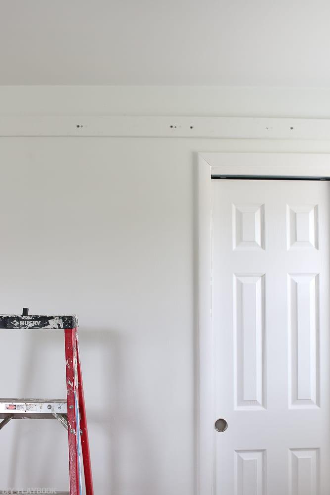 Closet_Door_turned_barn_door_progress-ladder