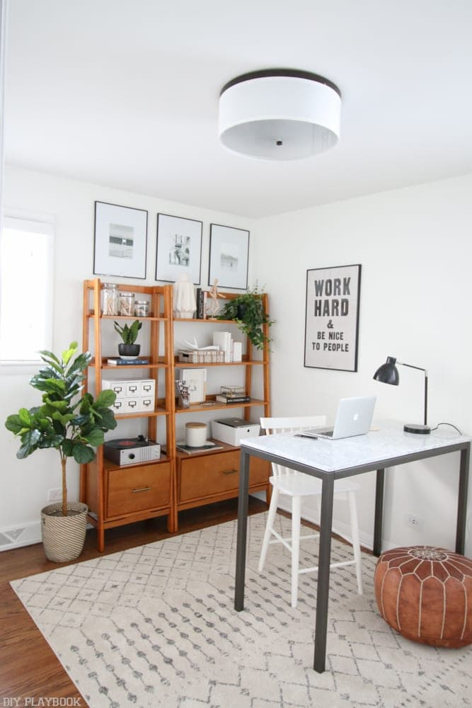 Here's the stop on the small house home tour where we get a behind the scenes peak at DIY Playbook - Bridget's office space!