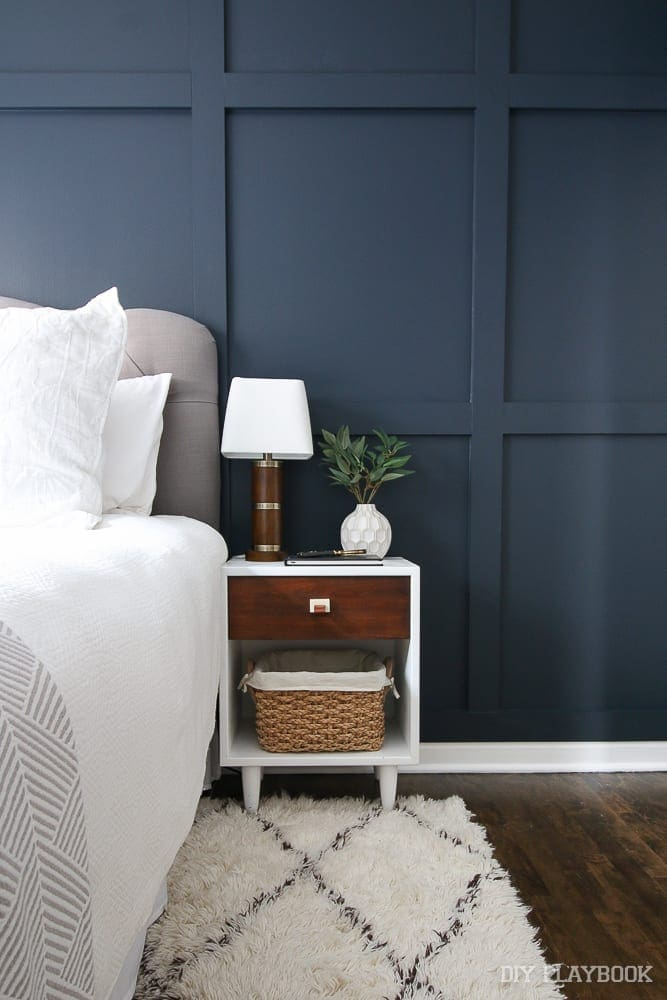 Casey's guest room accent wall
