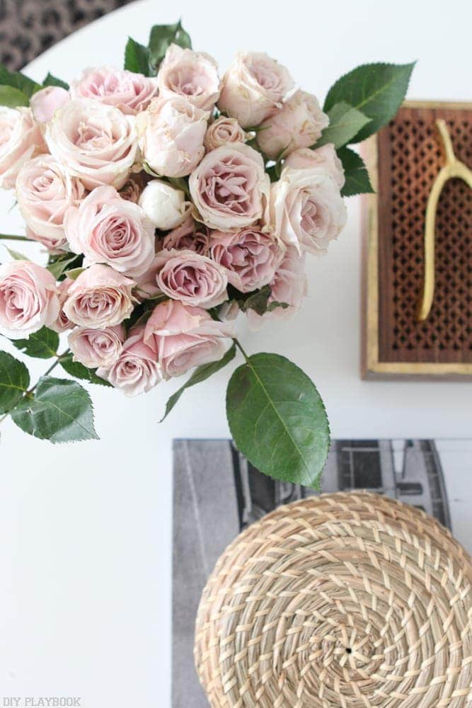 The colors pop against the white table