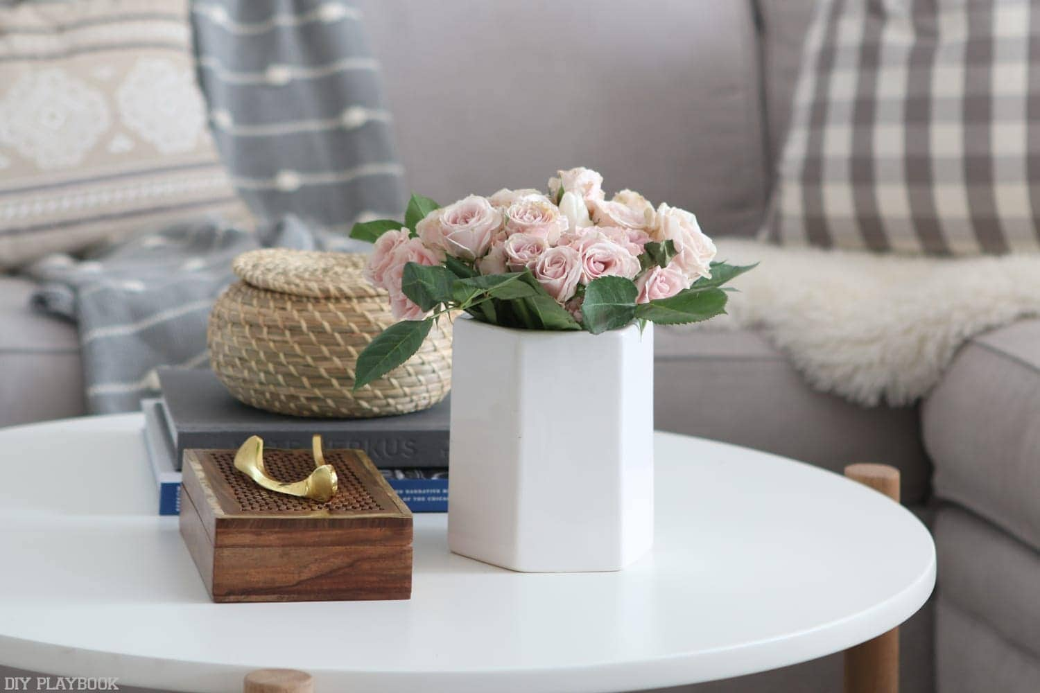 This table was perfect for these simple accent pieces
