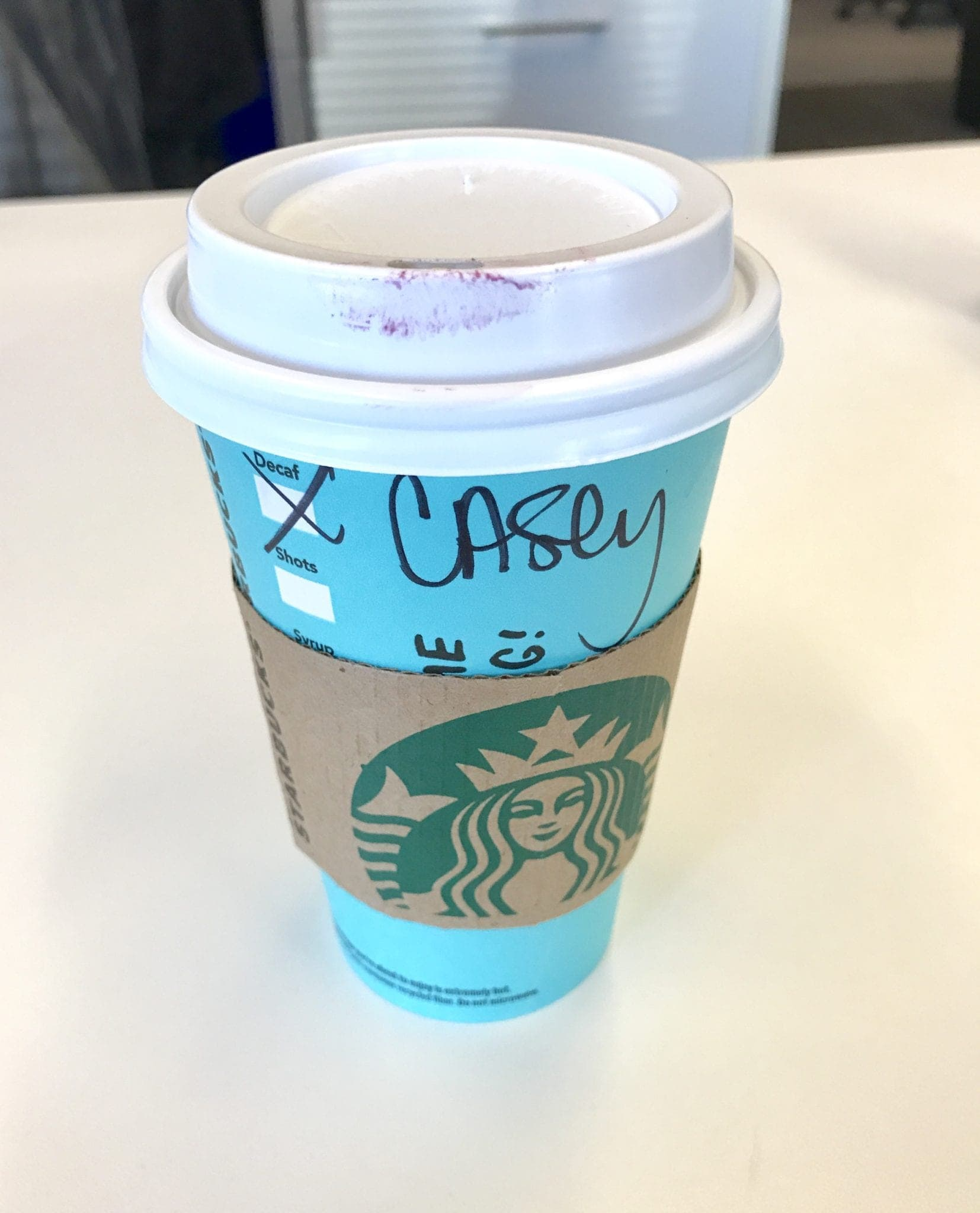 Death before decaf? Not for Casey!
