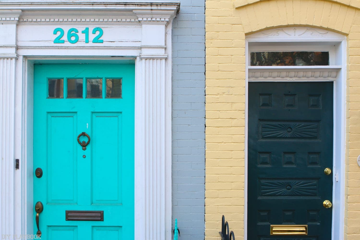 Colorful doors in Georgetown really stand out.