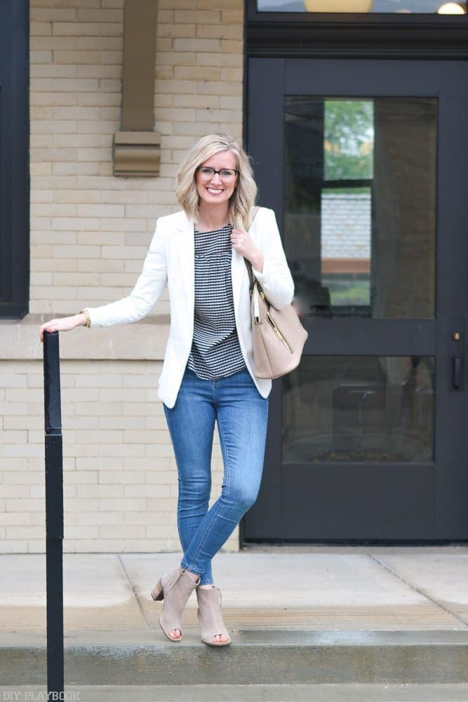 Gingham-cold-shoulder-blouse-fashion-bridget-casual