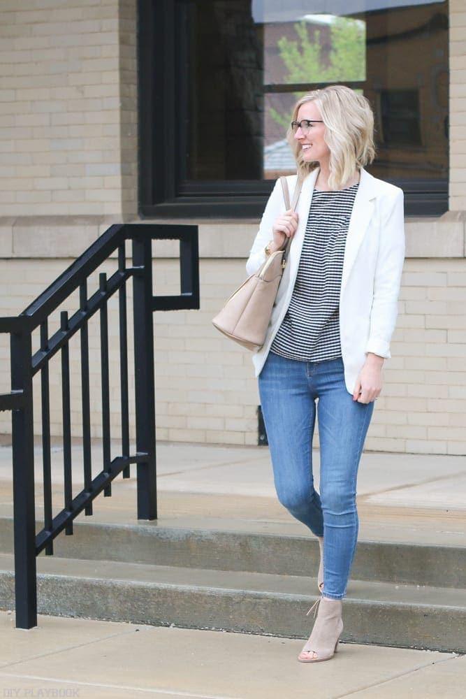 Gingham-cold-shoulder-blouse-fashion-bridget-teacher