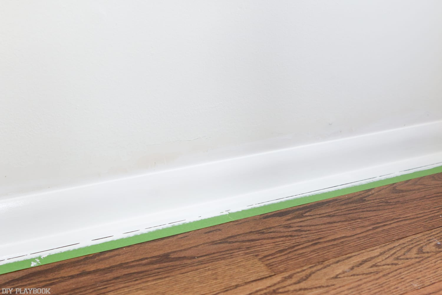 How_to_install_Shiplap_Baseboard_Progress-60