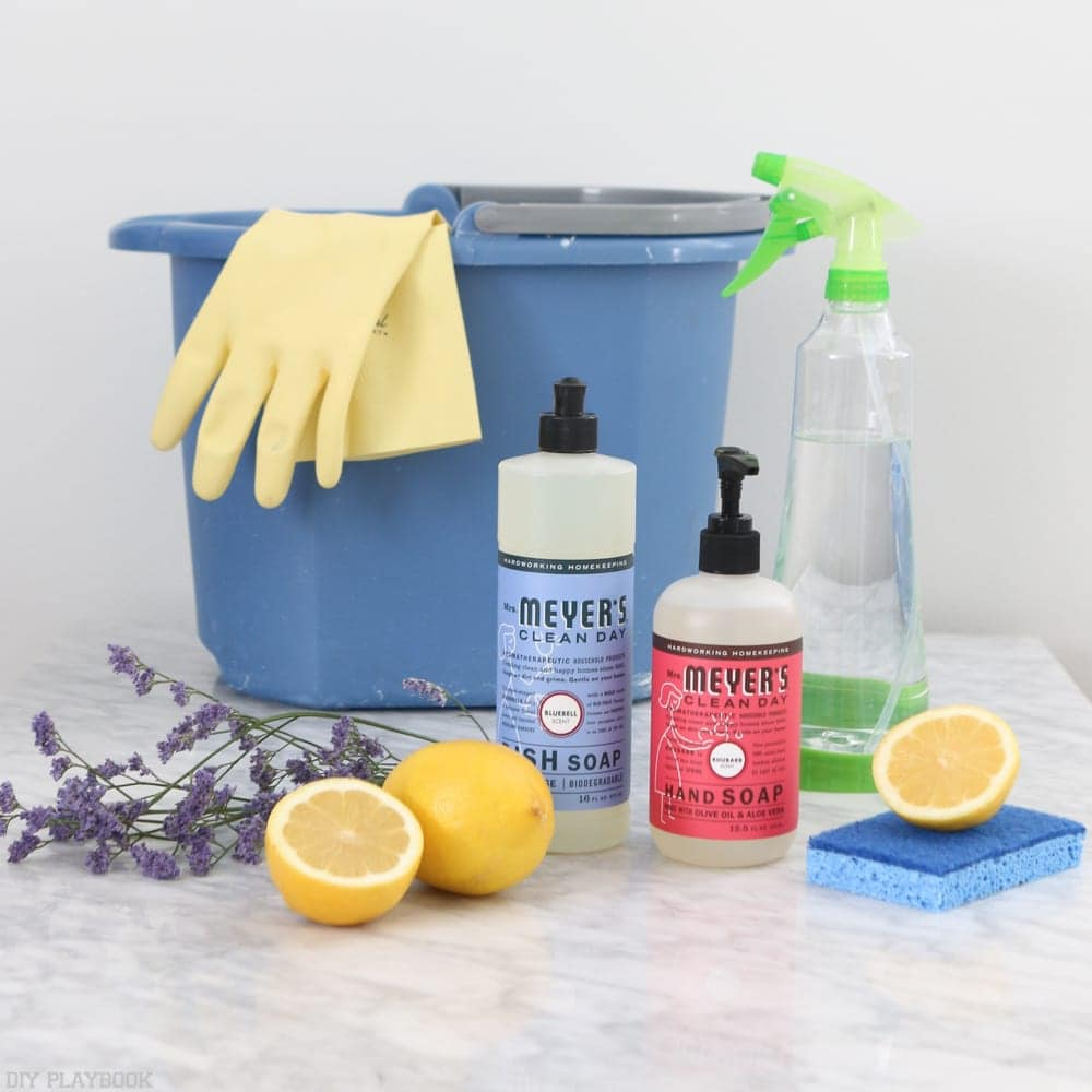 Cleaning supplies to maintain a clean home